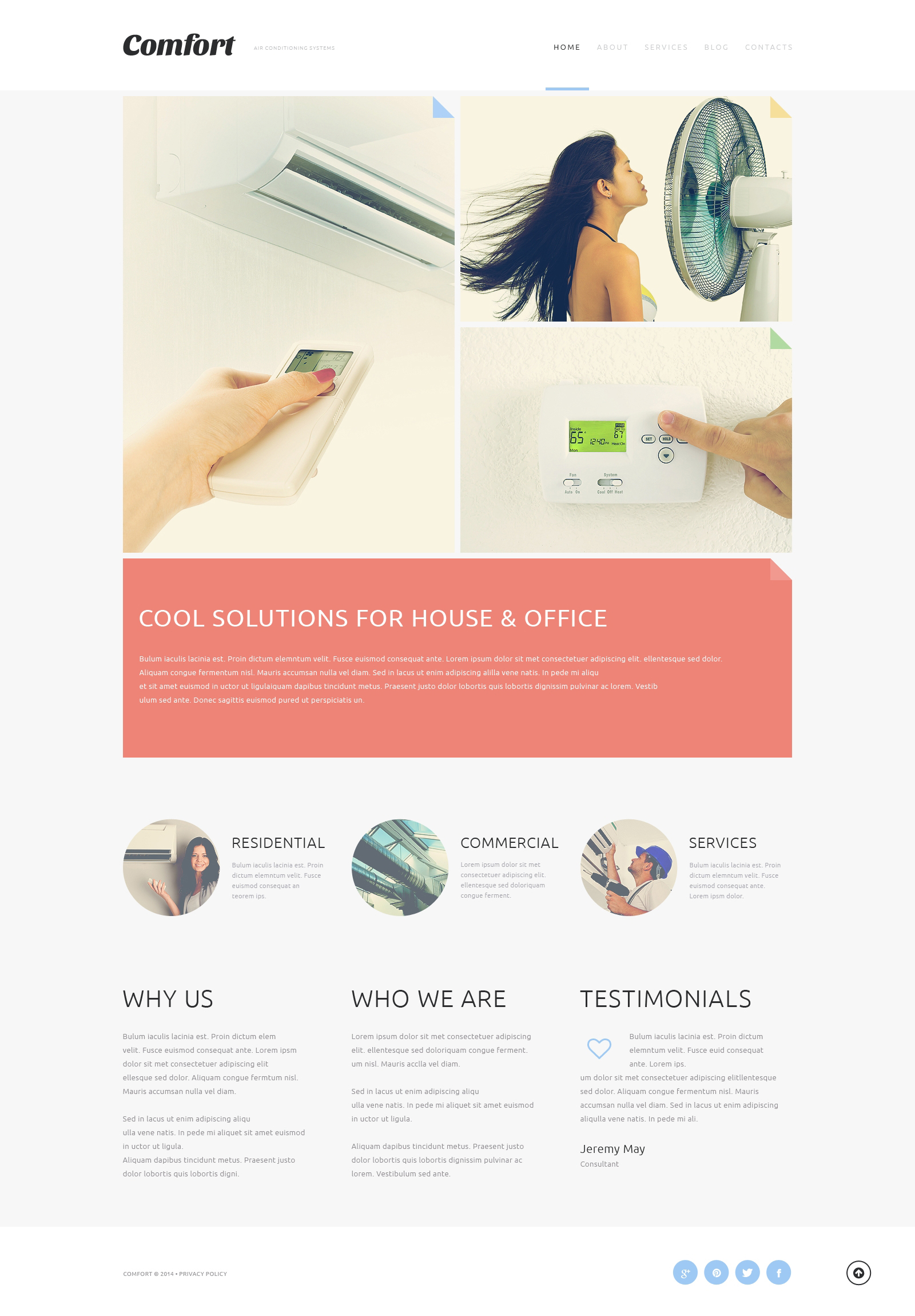 Air Conditioning Systems Joomla Template - screenshot