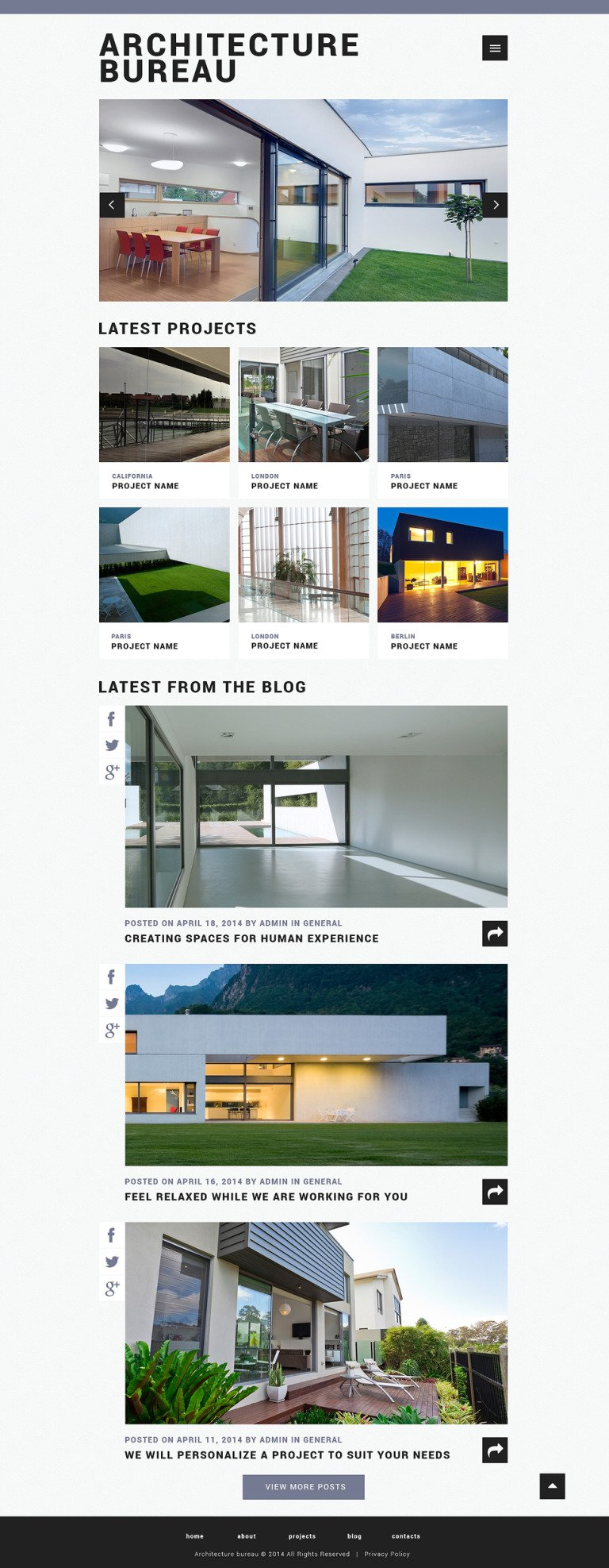 Architecture Responsive Website Template New Screenshots BIG