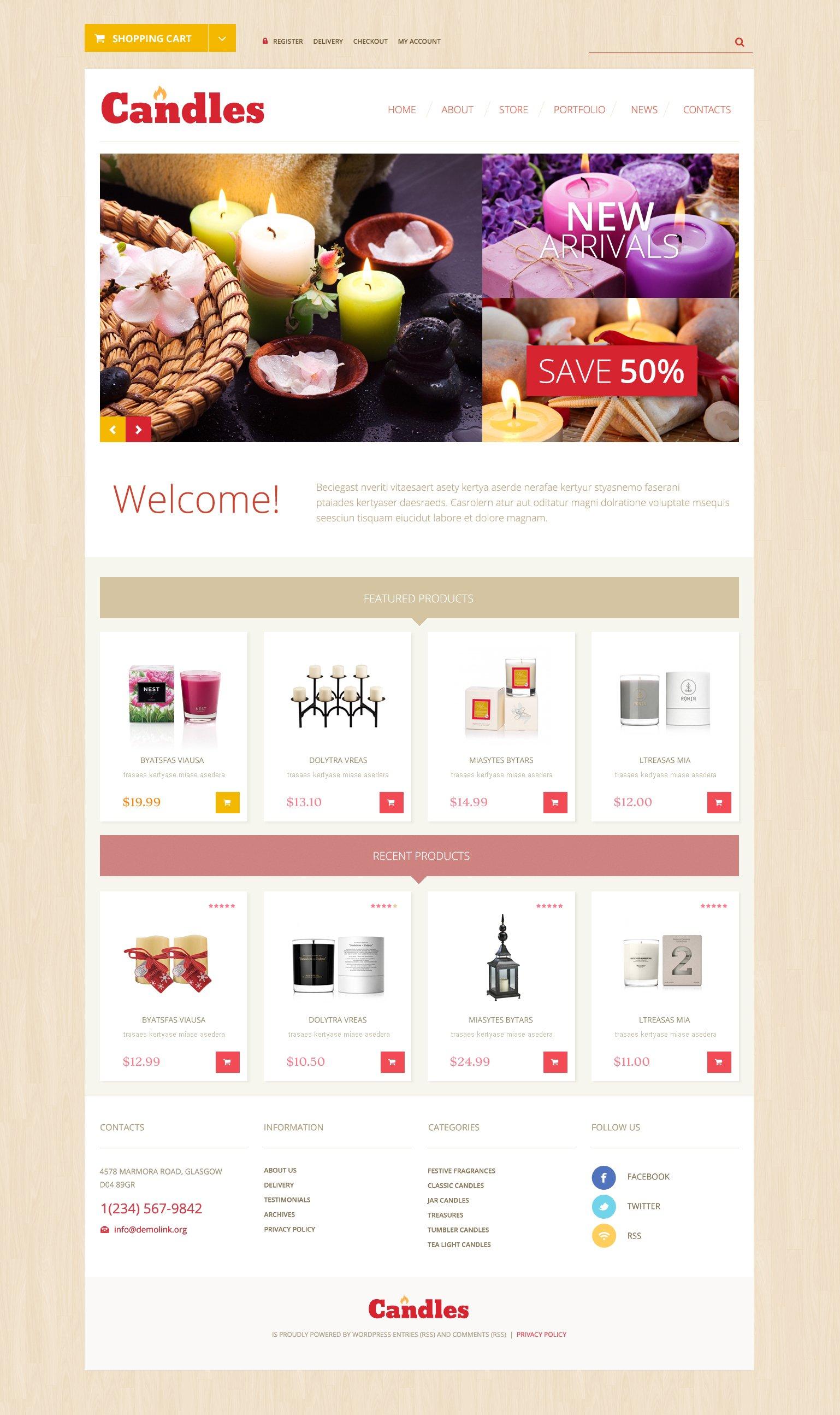 Array WooCommerce Theme - screenshot