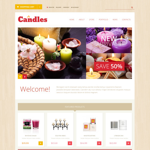 Candles - WooCommerce Template based on Bootstrap