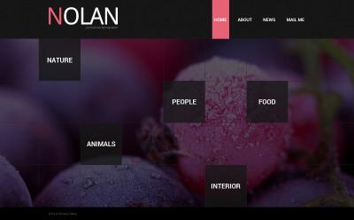 Photographer Portfolio Web Sitesi Şablonu