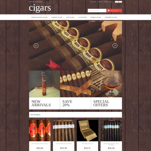 Cigars - Responsive Magento Template