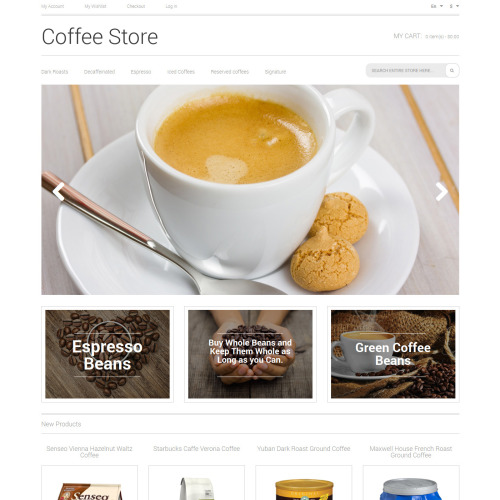 Coffee Store - Magento Template based on Bootstrap