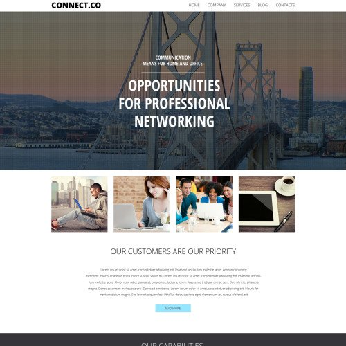 Connect. Co - WordPress Template based on Bootstrap