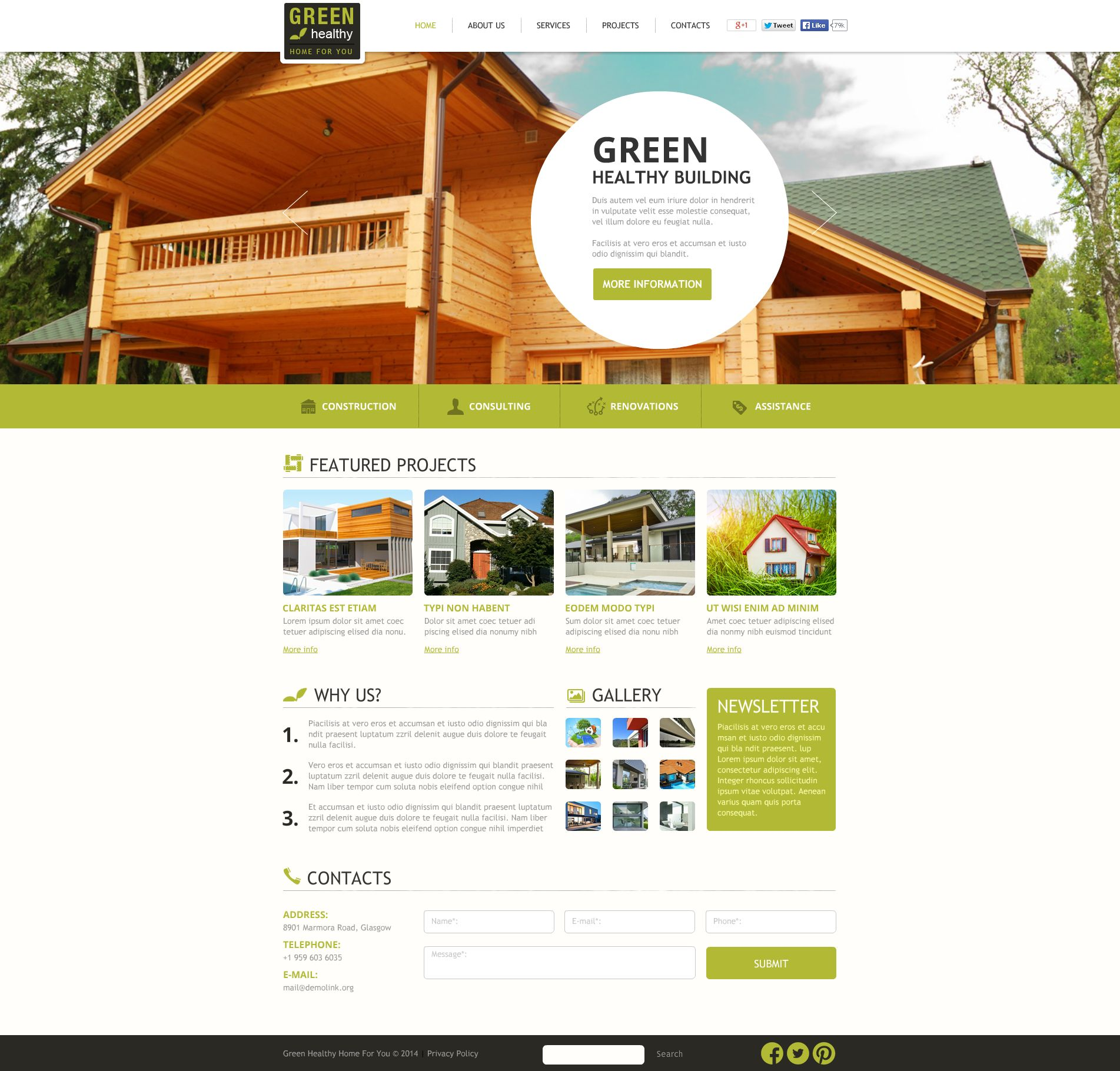 Construction Company Flash CMS Template - screenshot