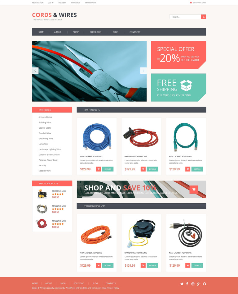 Cords Wires Store WooCommerce Theme New Screenshots BIG
