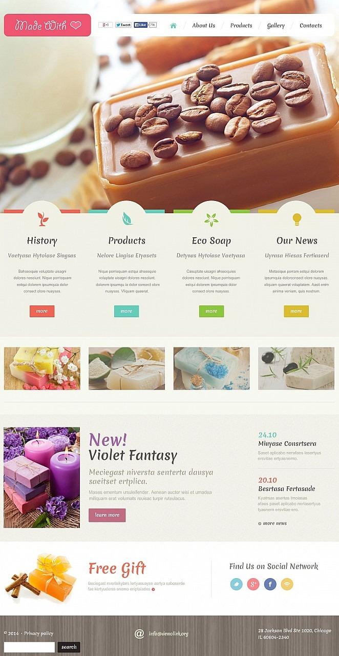 Crafts Flash CMS Template New Screenshots BIG