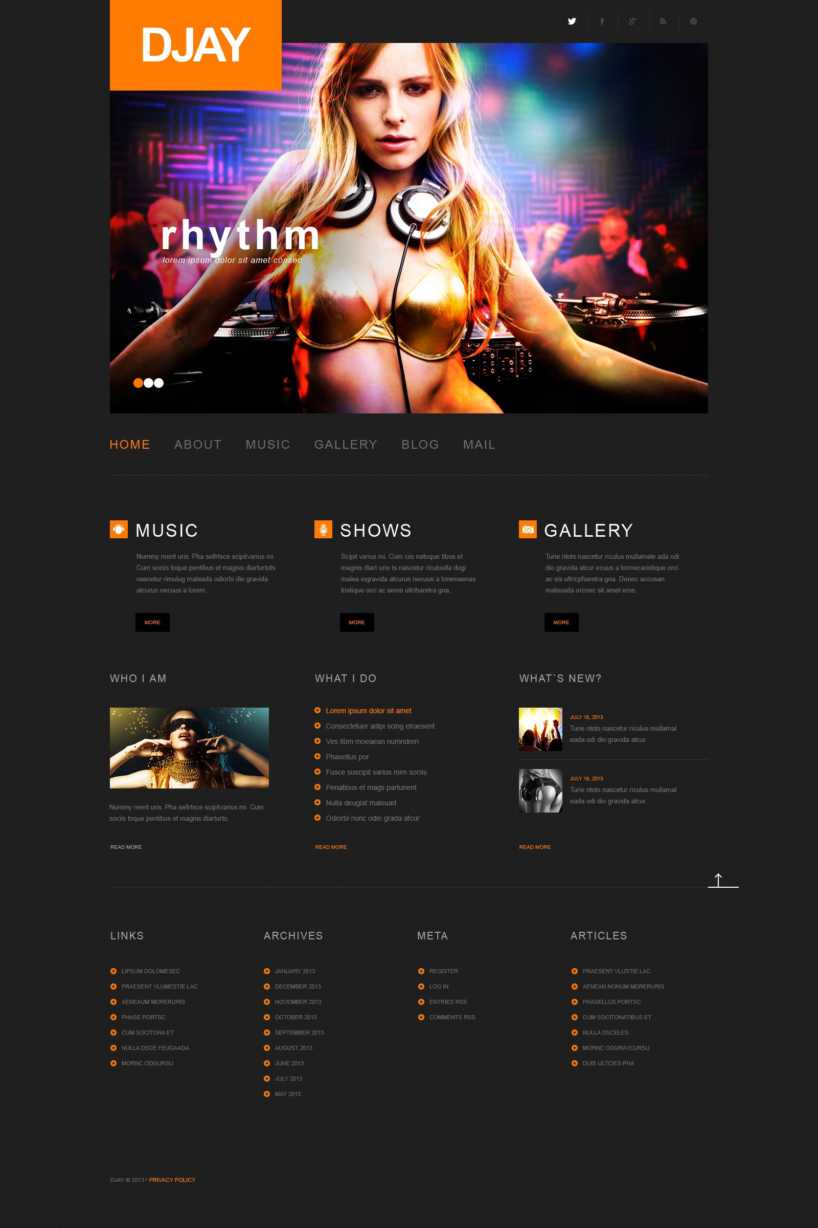 Dj Responsive Wordpress Theme 50497