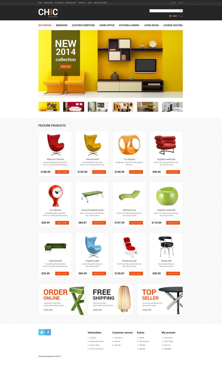 Furniture Store OpenCart Template New Screenshots BIG