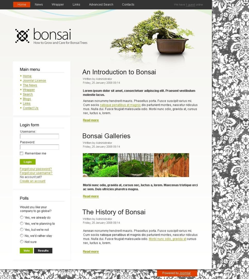 Garden Design PSD Template New Screenshots BIG