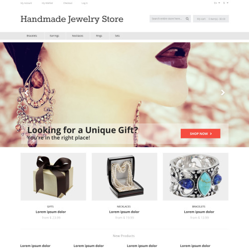 Handmade Jewelry Store - Responsive Magento Template