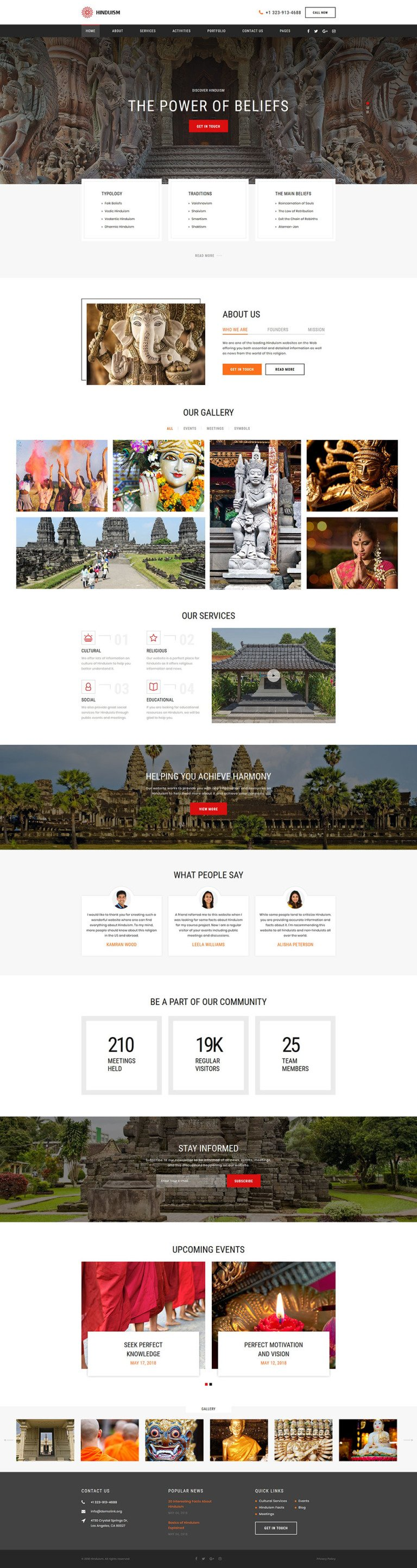 Hinduism Responsive Website Template New Screenshots BIG