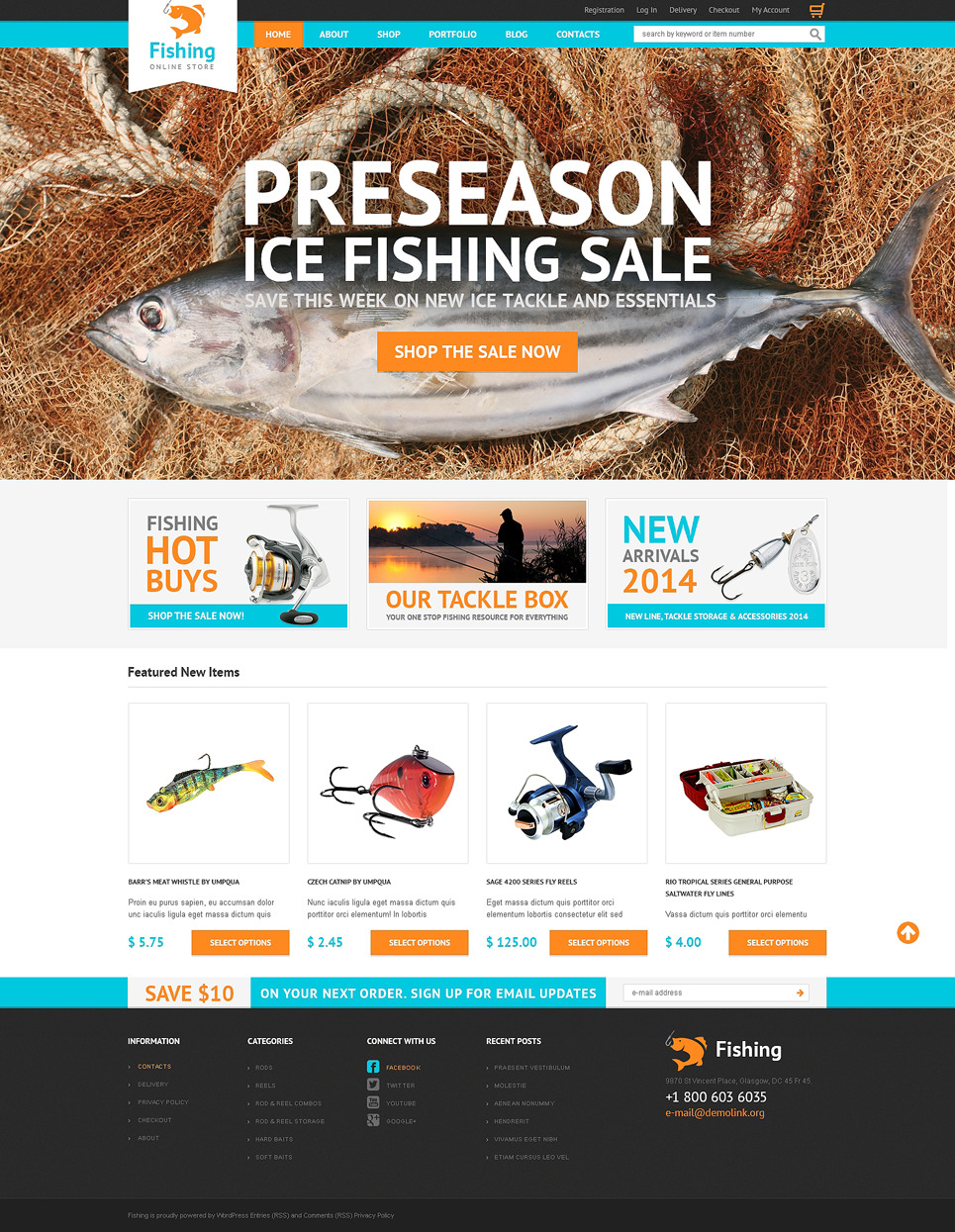 Hobby Fishing WooCommerce Theme New Screenshots BIG
