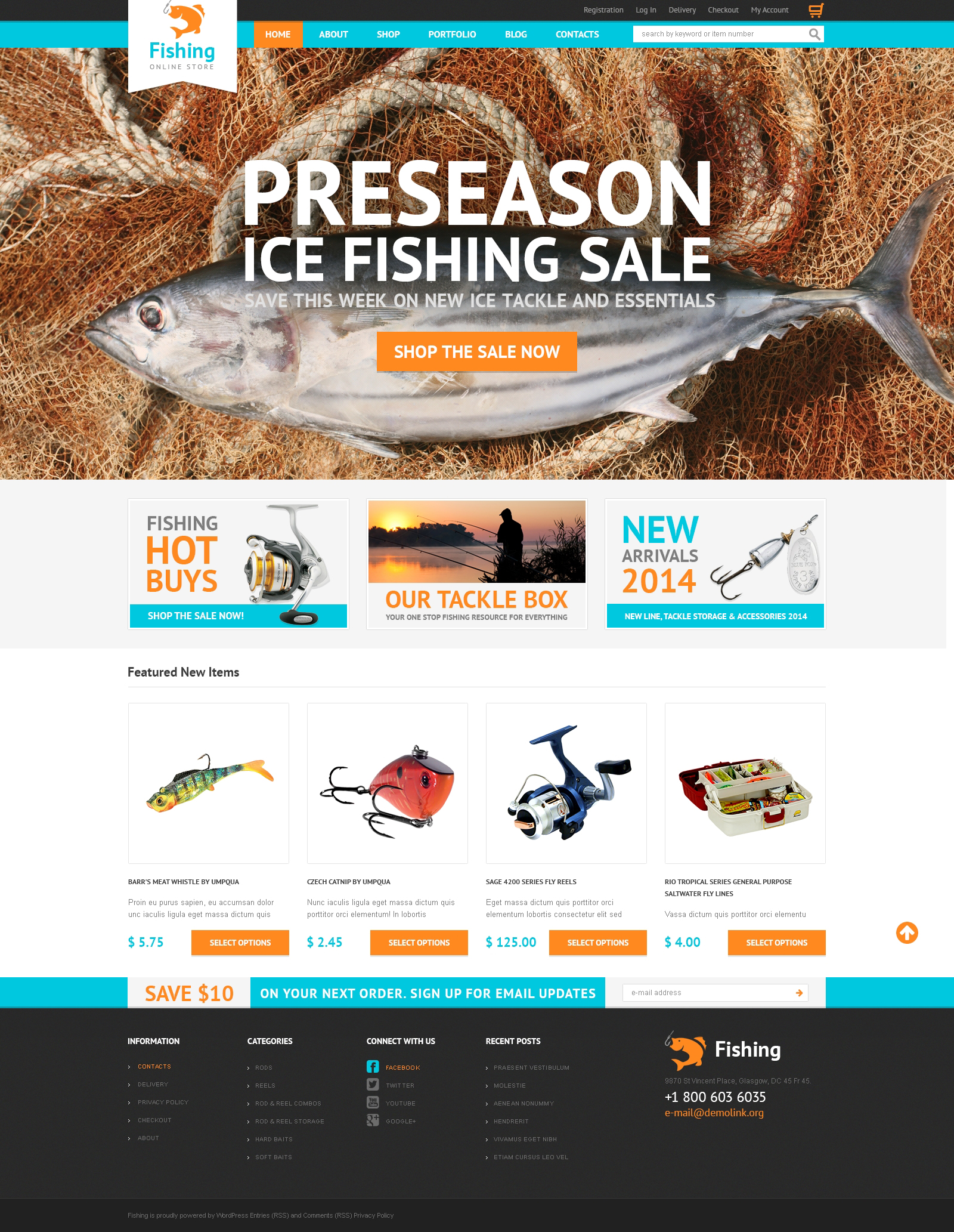 Hobby Fishing WooCommerce Theme