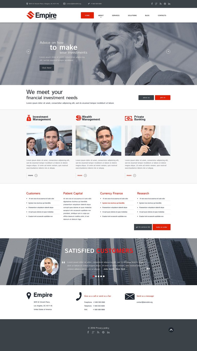 Investment Company Responsive WordPress Theme New Screenshots BIG