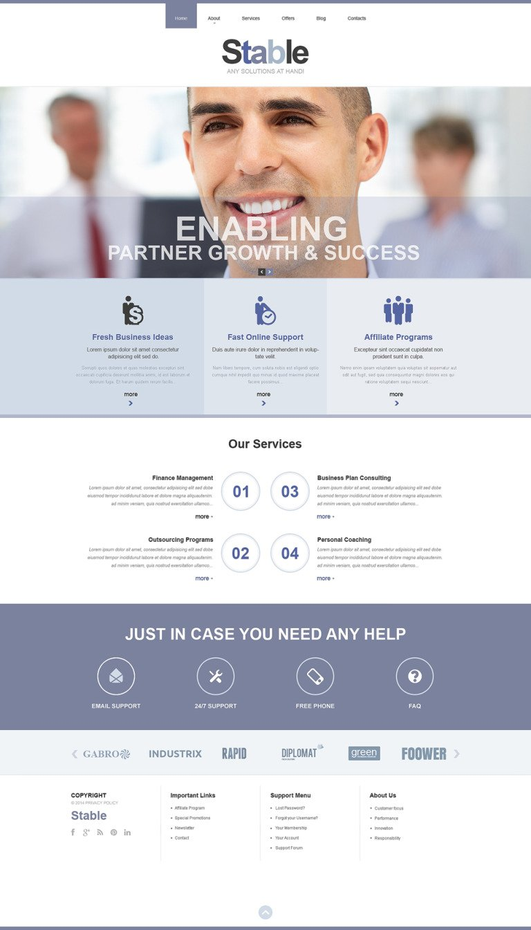 Management Company Responsive Website Template New Screenshots BIG