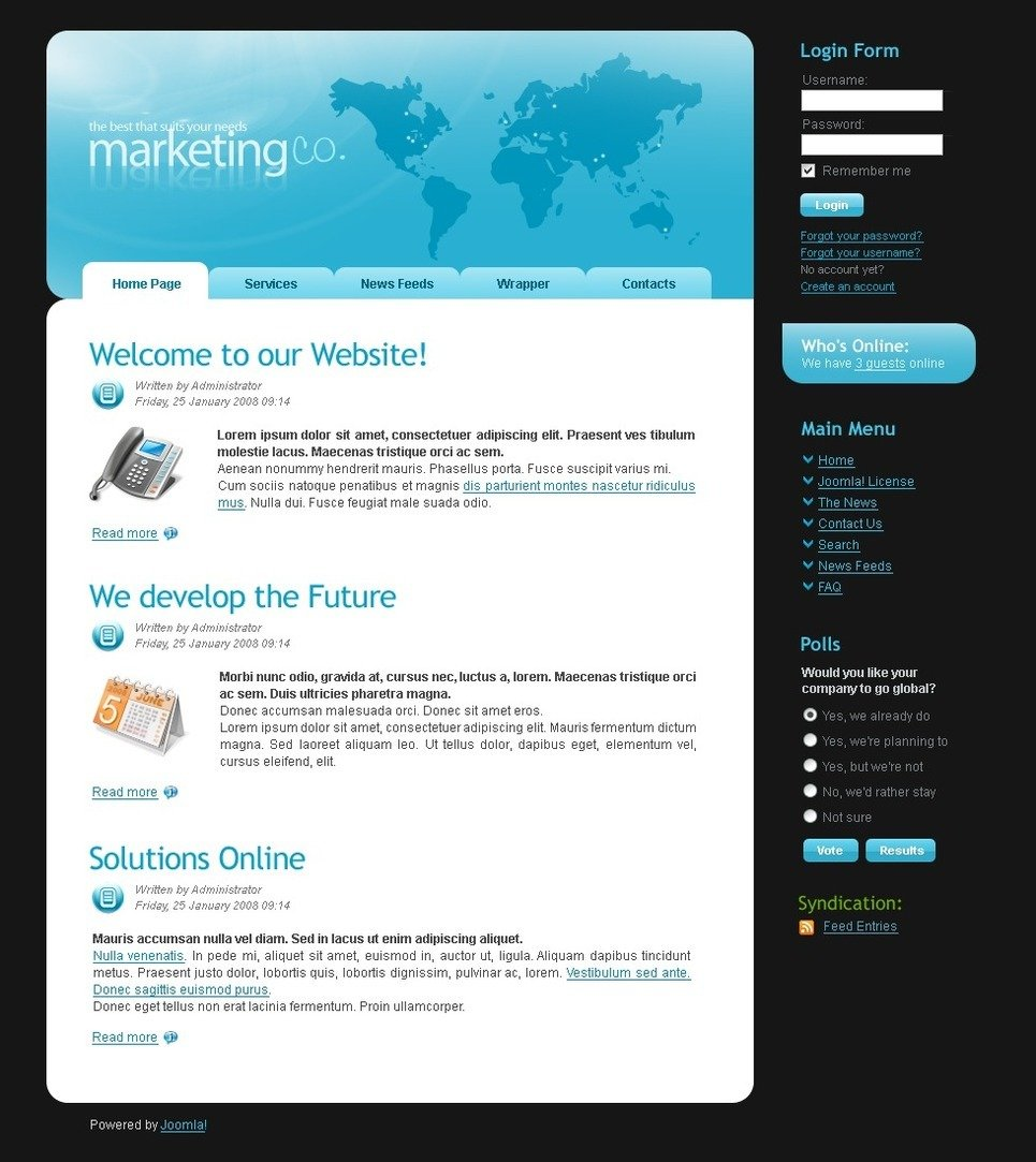 Marketing Agency PSD Template New Screenshots BIG