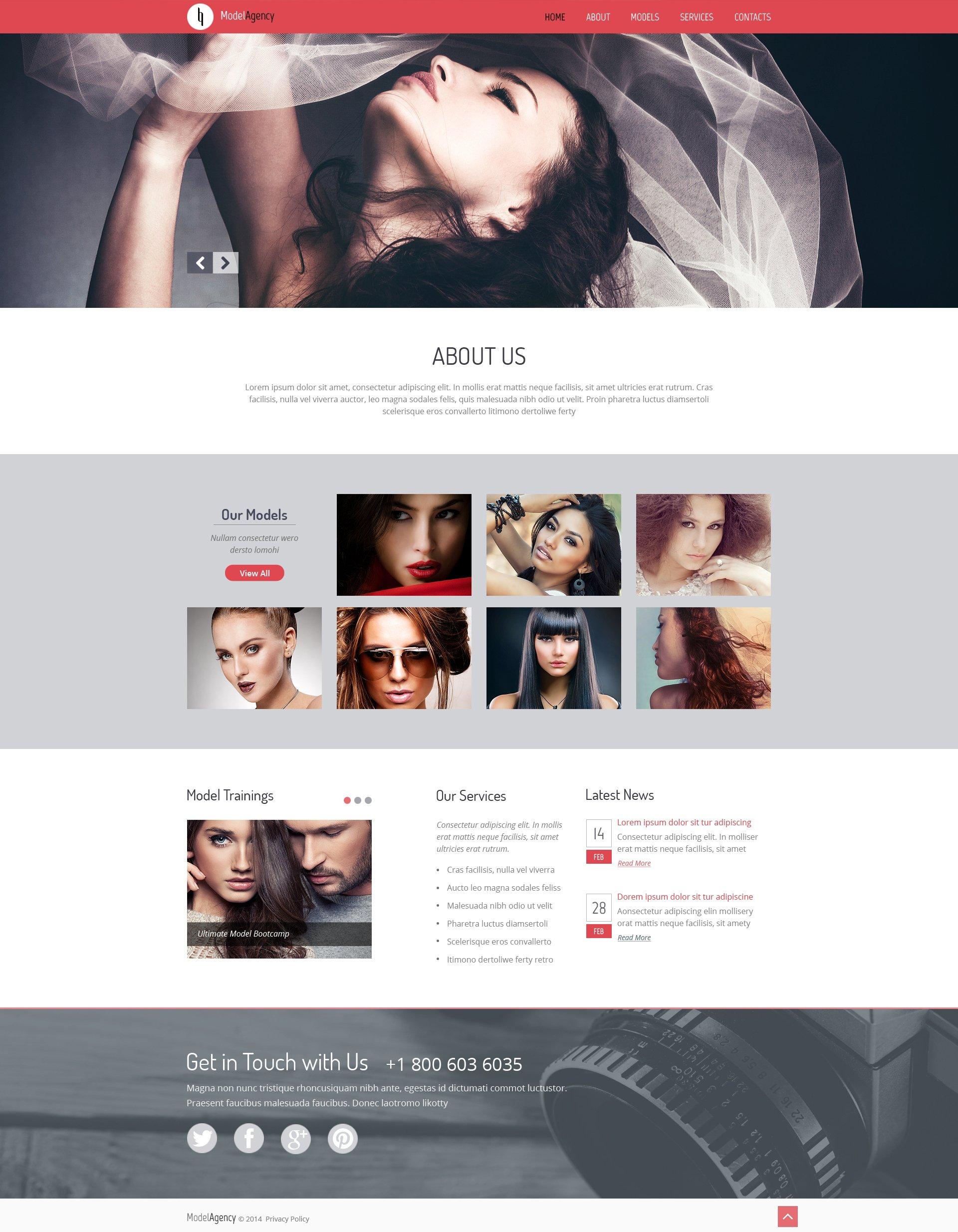 Modèle Web adaptatif pour agence de mannequins #50453