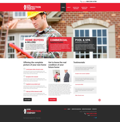 Mortgage Responsive Website Template #50450