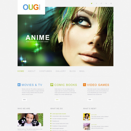 Ougi - WordPress Template based on Bootstrap