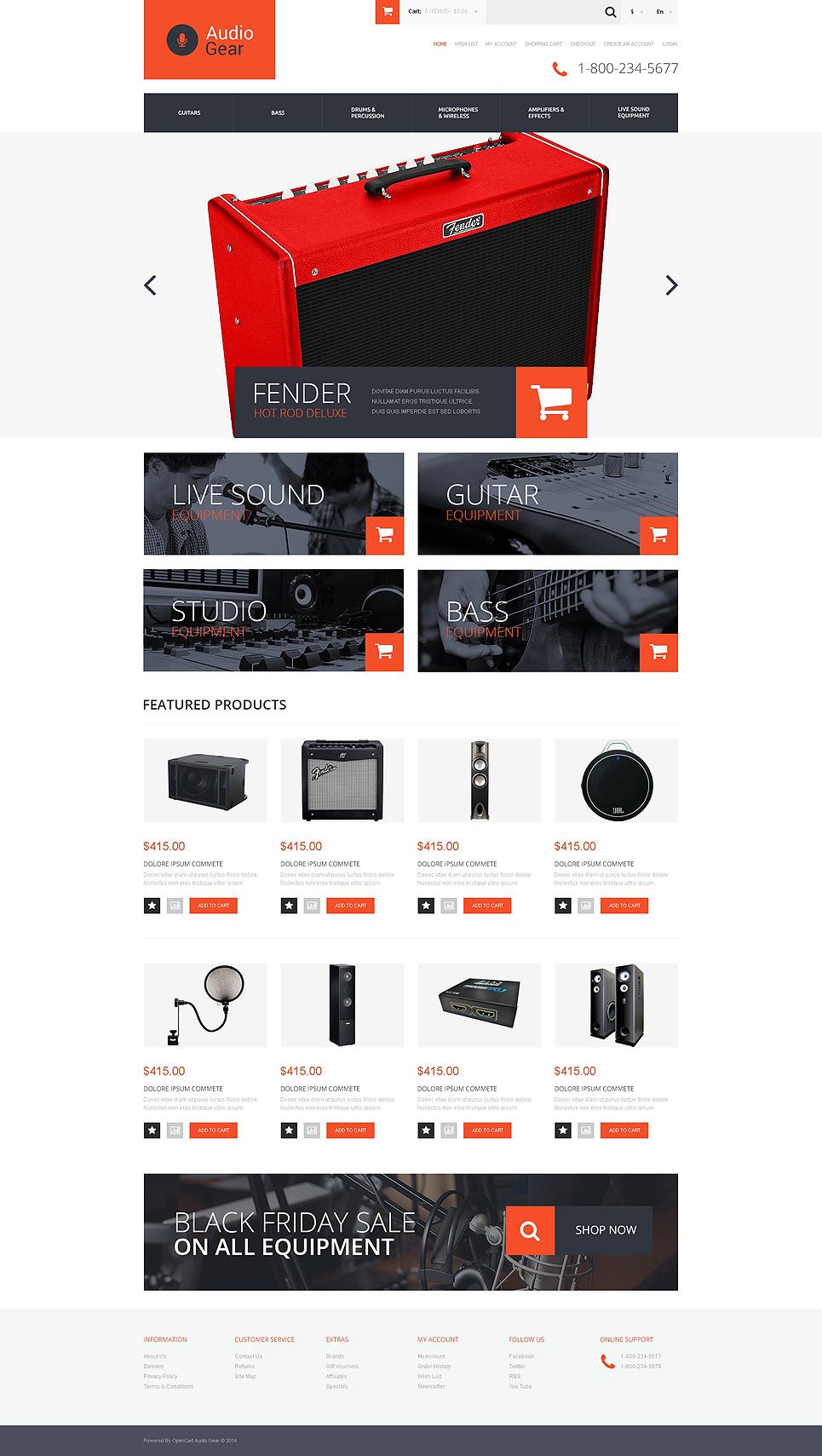 Music Store Responsive OpenCart Template New Screenshots BIG