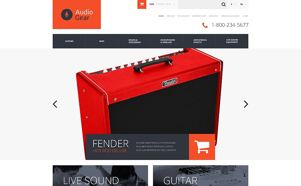 opencart bookstore template - music store responsive opencart template 50477