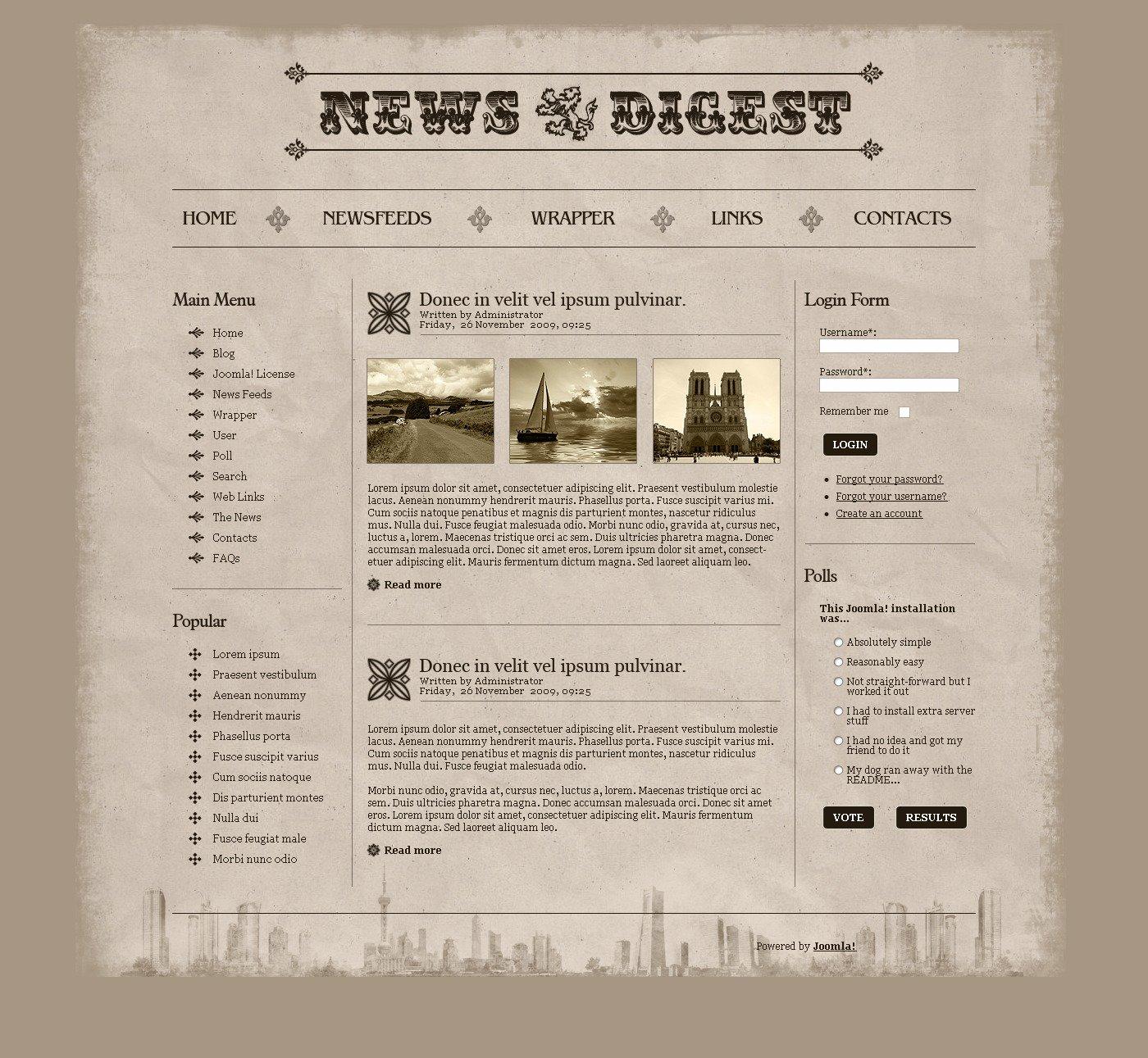 News Portal PSD Template