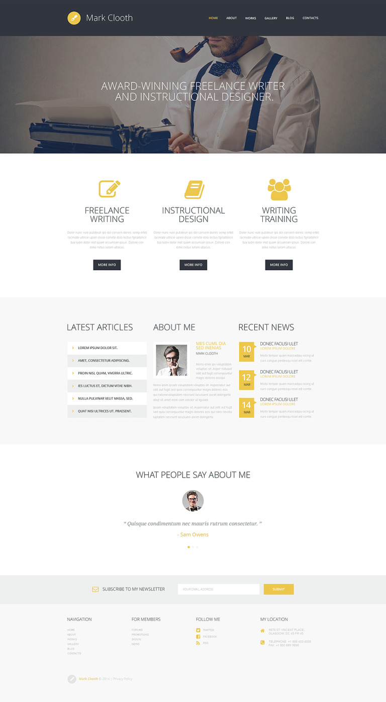 Online Freelancer WordPress Theme New Screenshots BIG