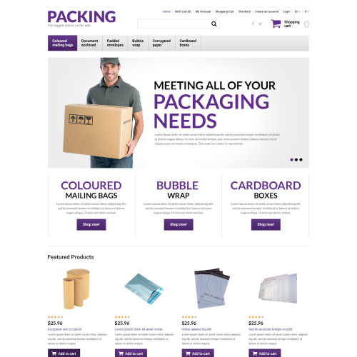 Packing  - OpenCart Template based on Bootstrap