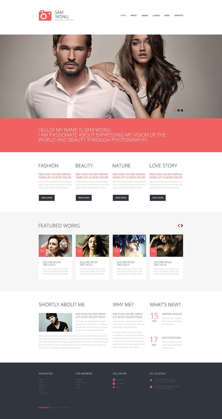 Photographer Portfolio Responsive WordPress Theme New Screenshots BIG