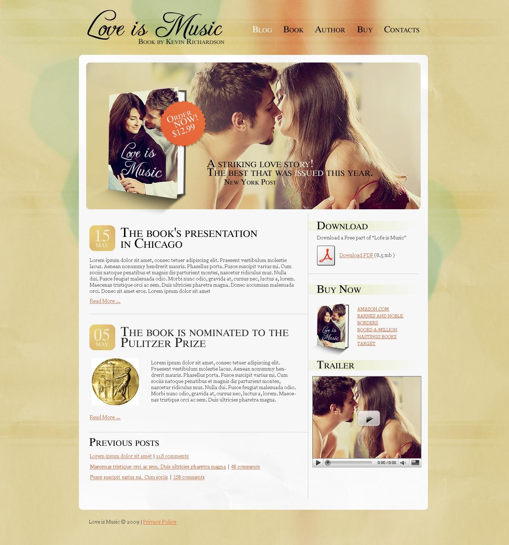 Plantilla PSD #50401 para Sitio de Reseñas de libros - captura de pantalla