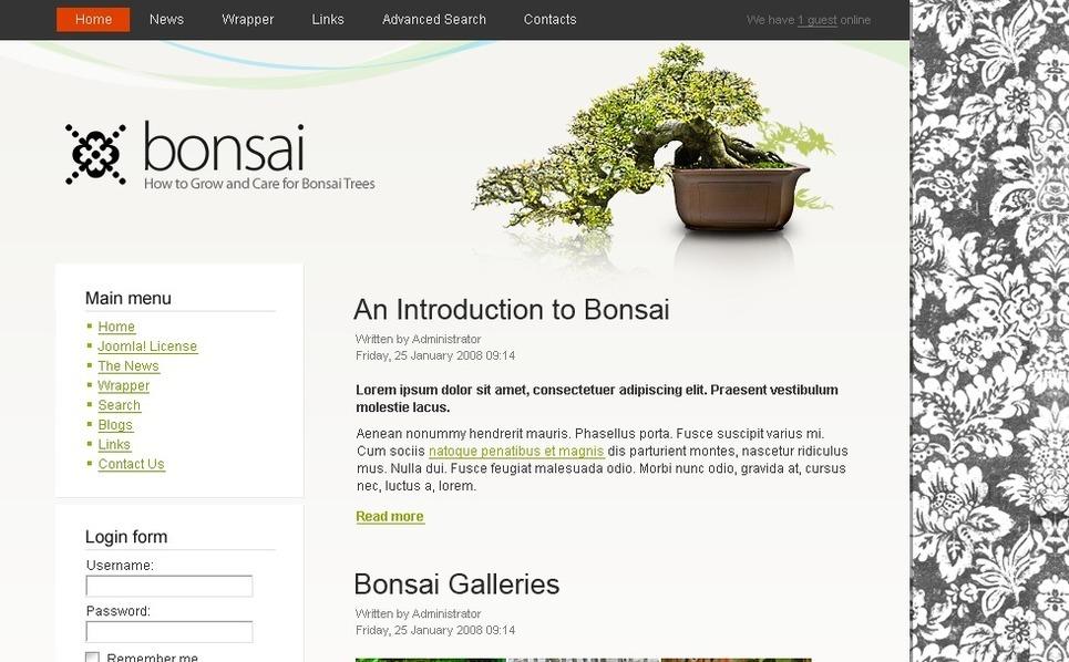 PSD шаблон №50410 на тему садовый дизайн New Screenshots BIG