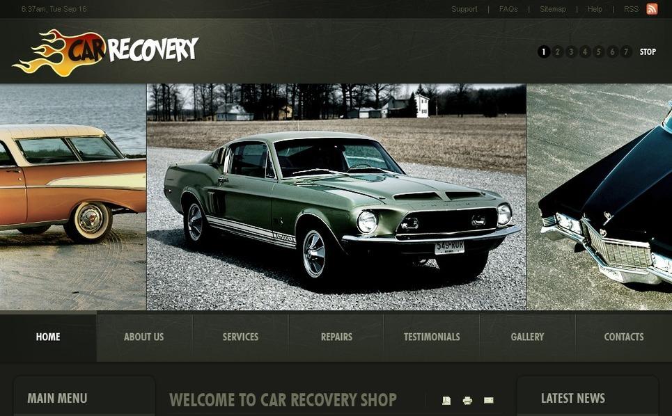 PSD шаблон №50431 на тему ремонт авто New Screenshots BIG