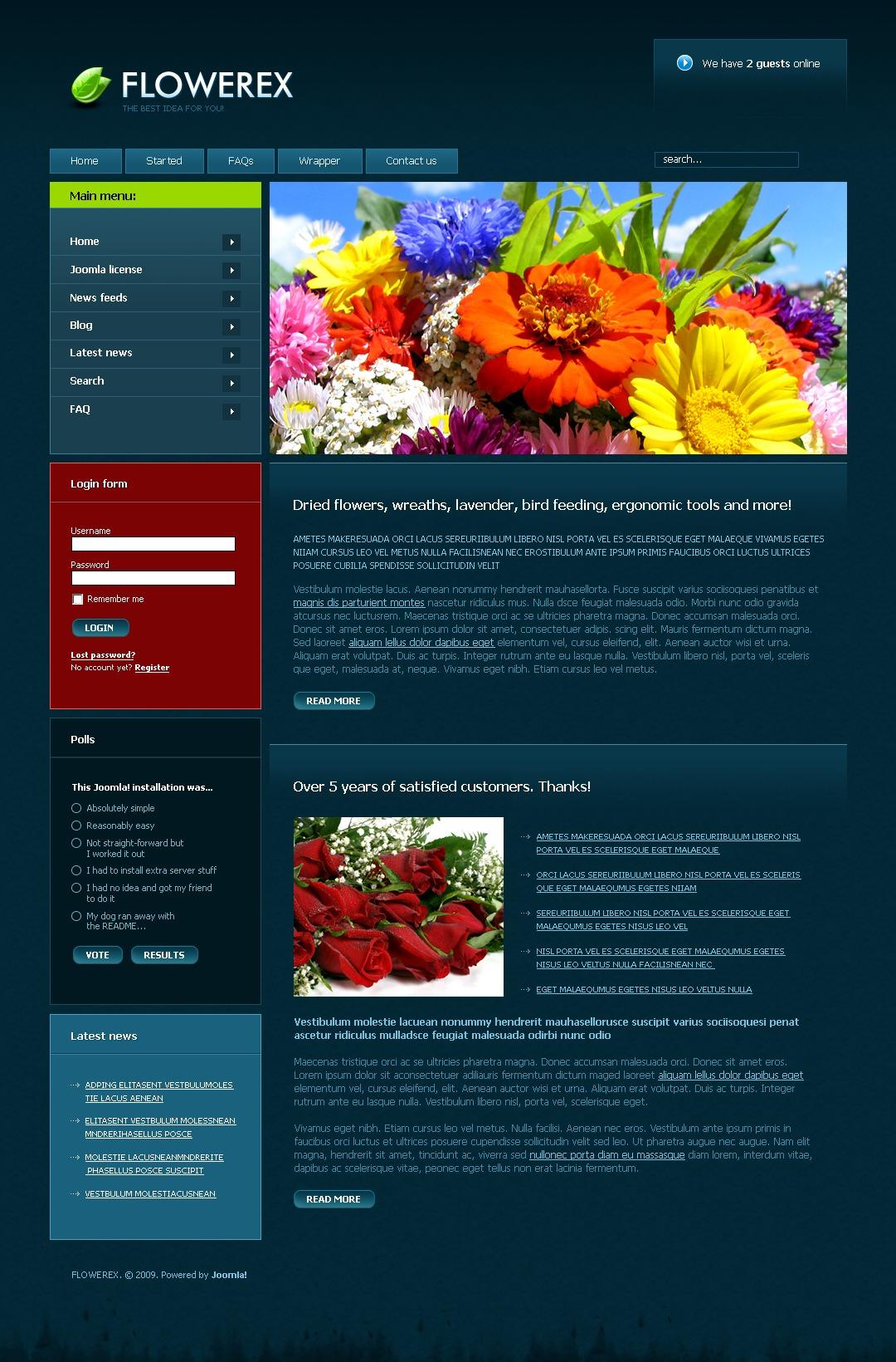 PSD šablona Květiny #50419