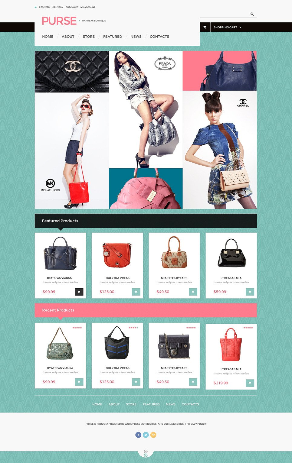 Purse WooCommerce Theme New Screenshots BIG