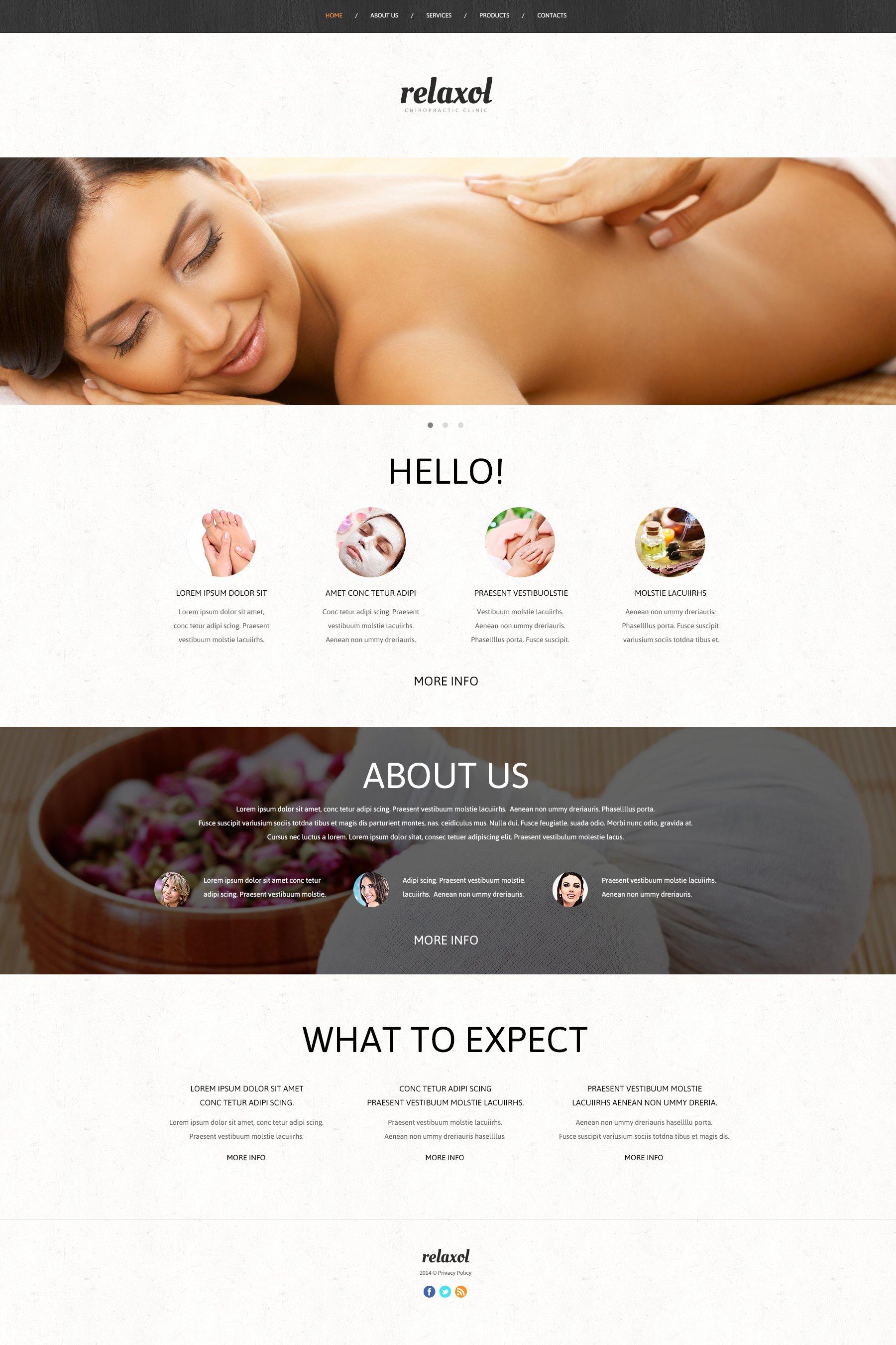Responsive Masaj Salonu Web Sitesi #50446