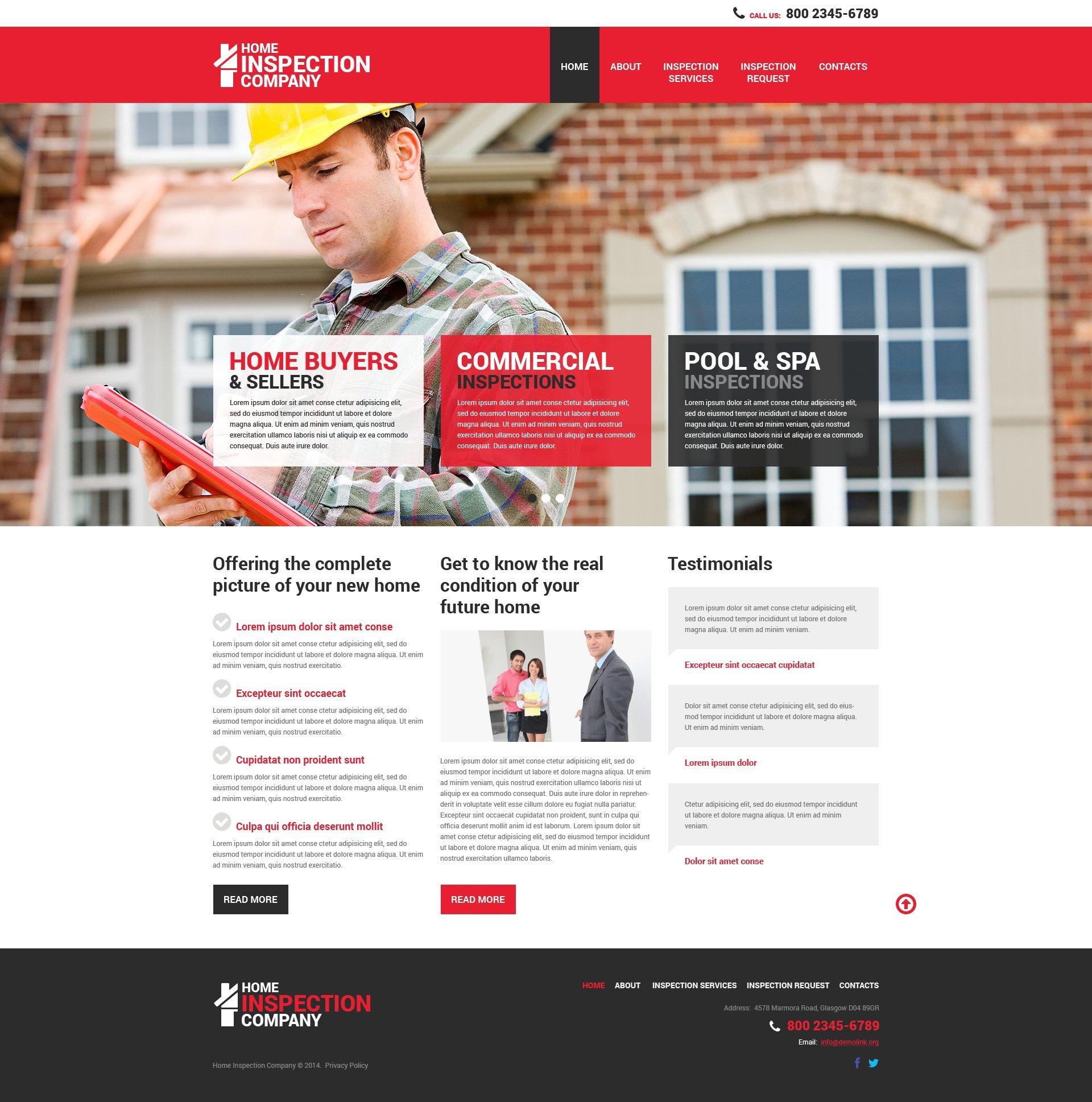 Website Vorlage #50450 für Hypothek