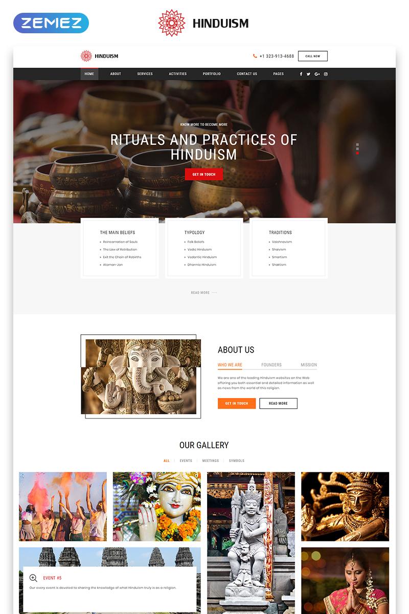 """Responzivní Šablona webových stránek """"Hinduism - Bautiful Religious Organisation Multipage HTML"""" #50441"""