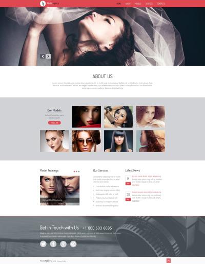 Model Agency Responsive Šablona Webových Stránek