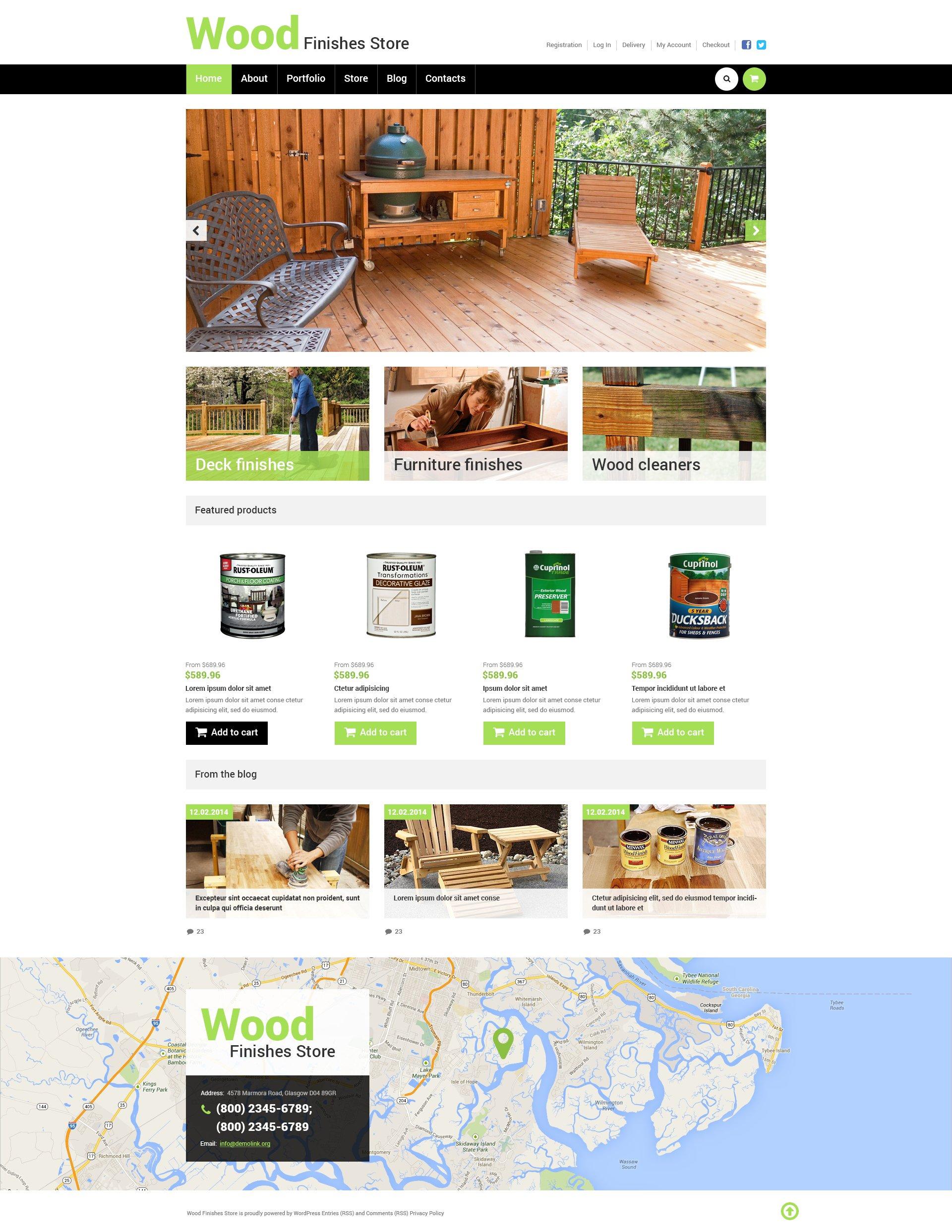 "Responzivní WooCommerce motiv ""Best Wood Finishes Store"" #50471 - screenshot"