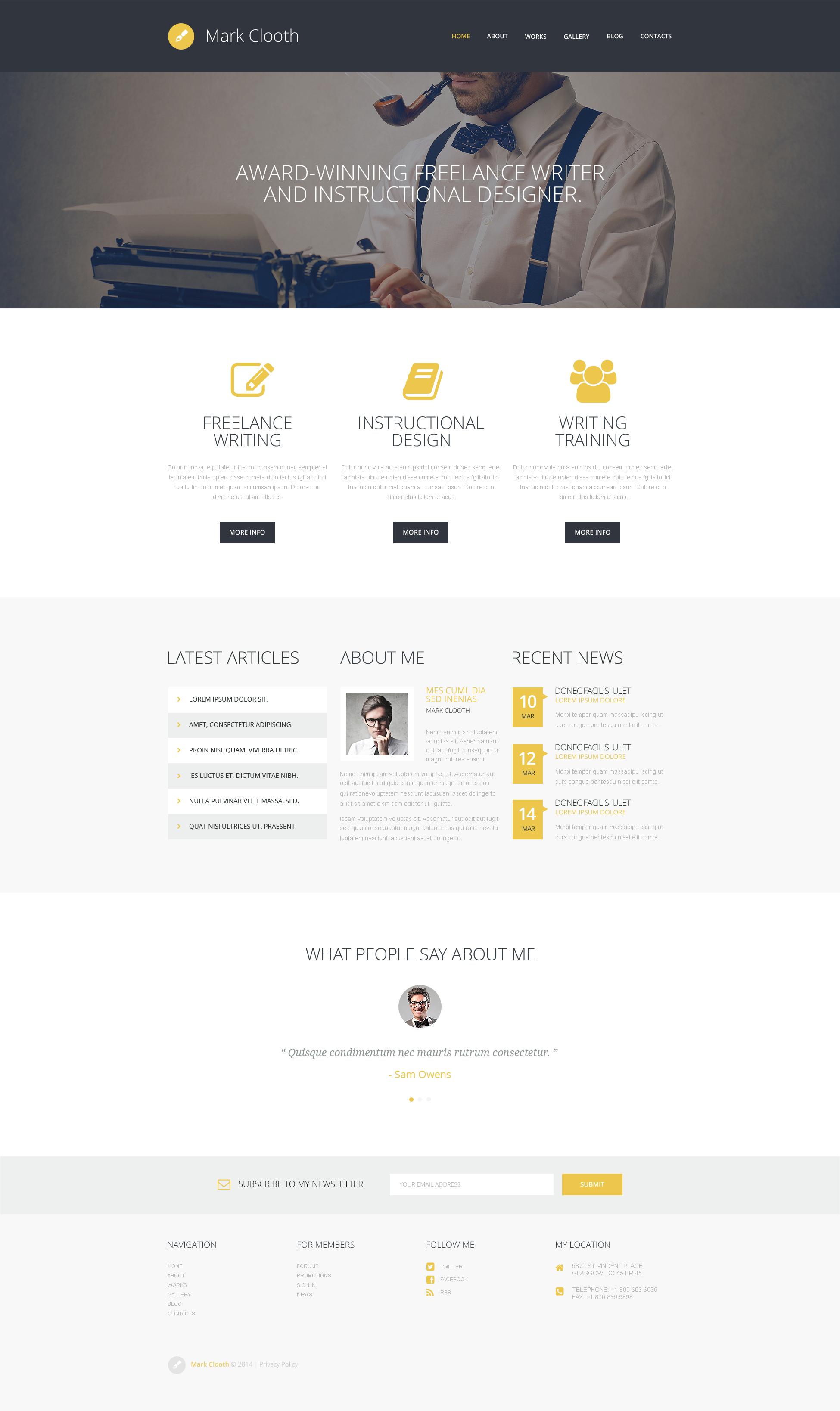 "Responzivní WordPress motiv ""Online Freelancer"" #50495 - screenshot"