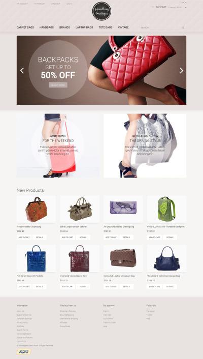 Handbag Responsive Magento Sablon