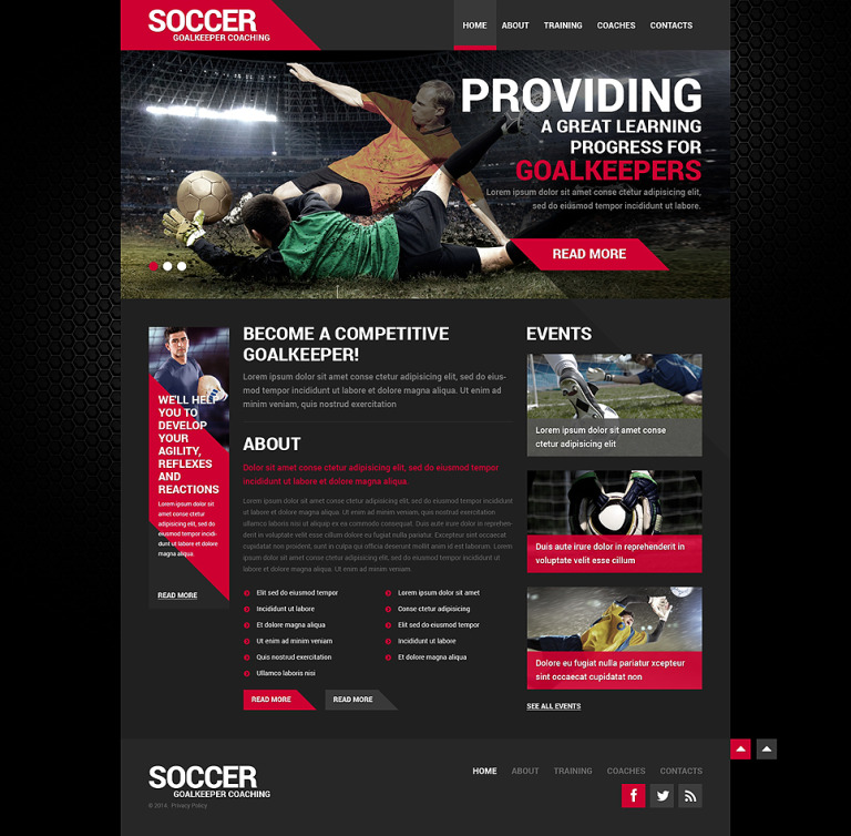 Soccer Responsive Website Template New Screenshots BIG