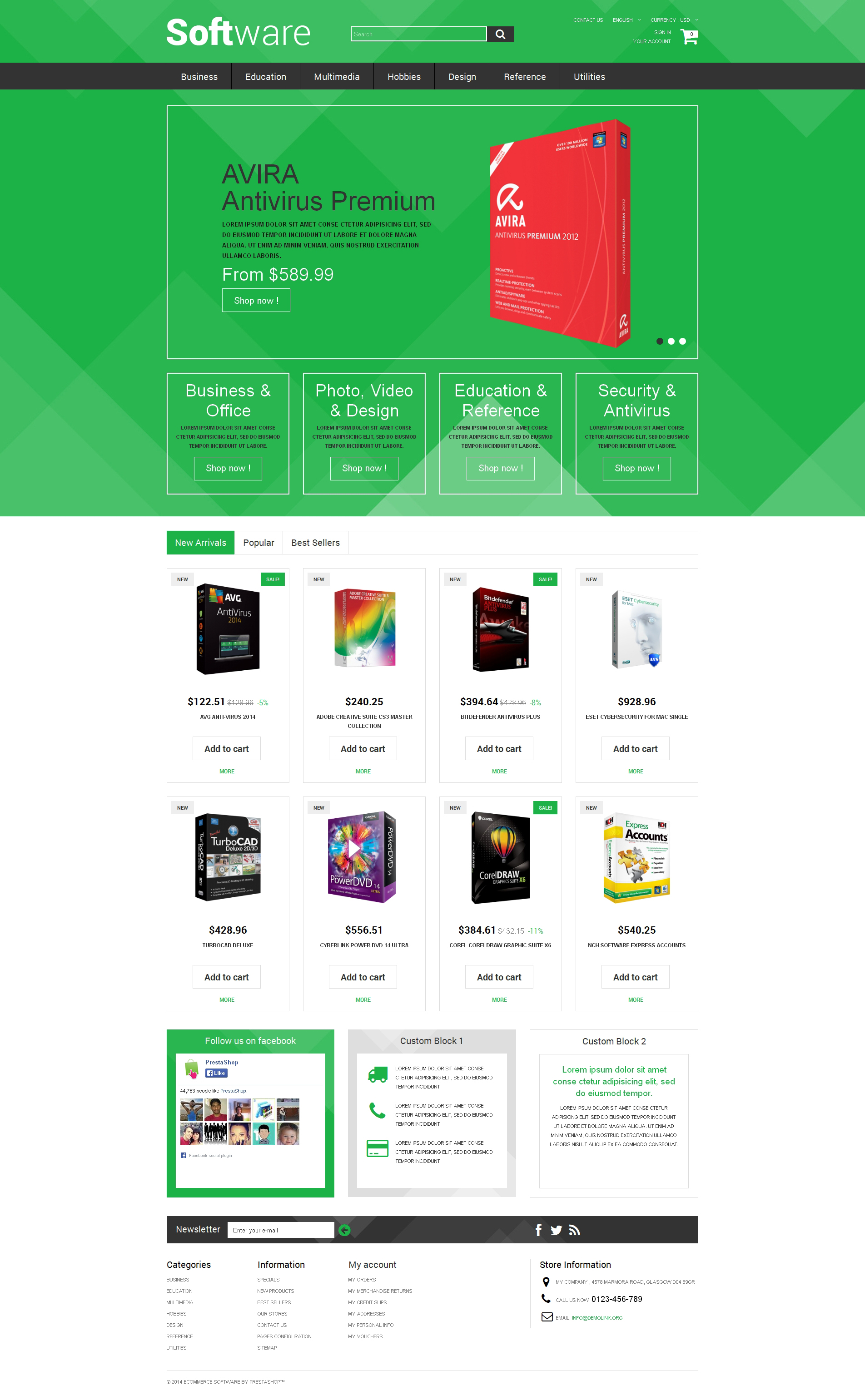 Software Store PrestaShop Theme