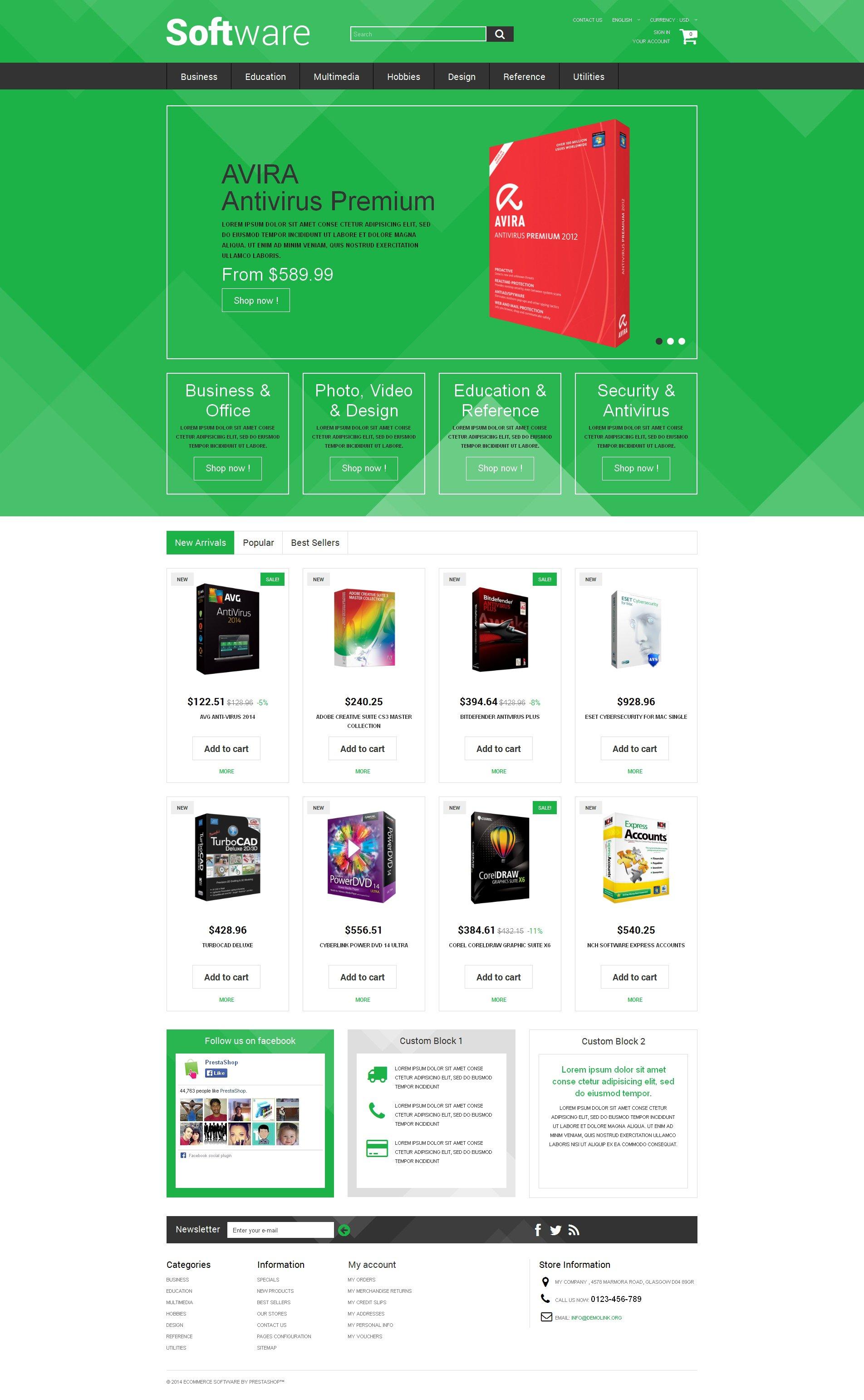Software Store PrestaShop Theme - screenshot