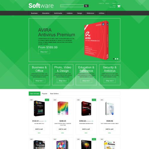 Software - PrestaShop Template based on Bootstrap