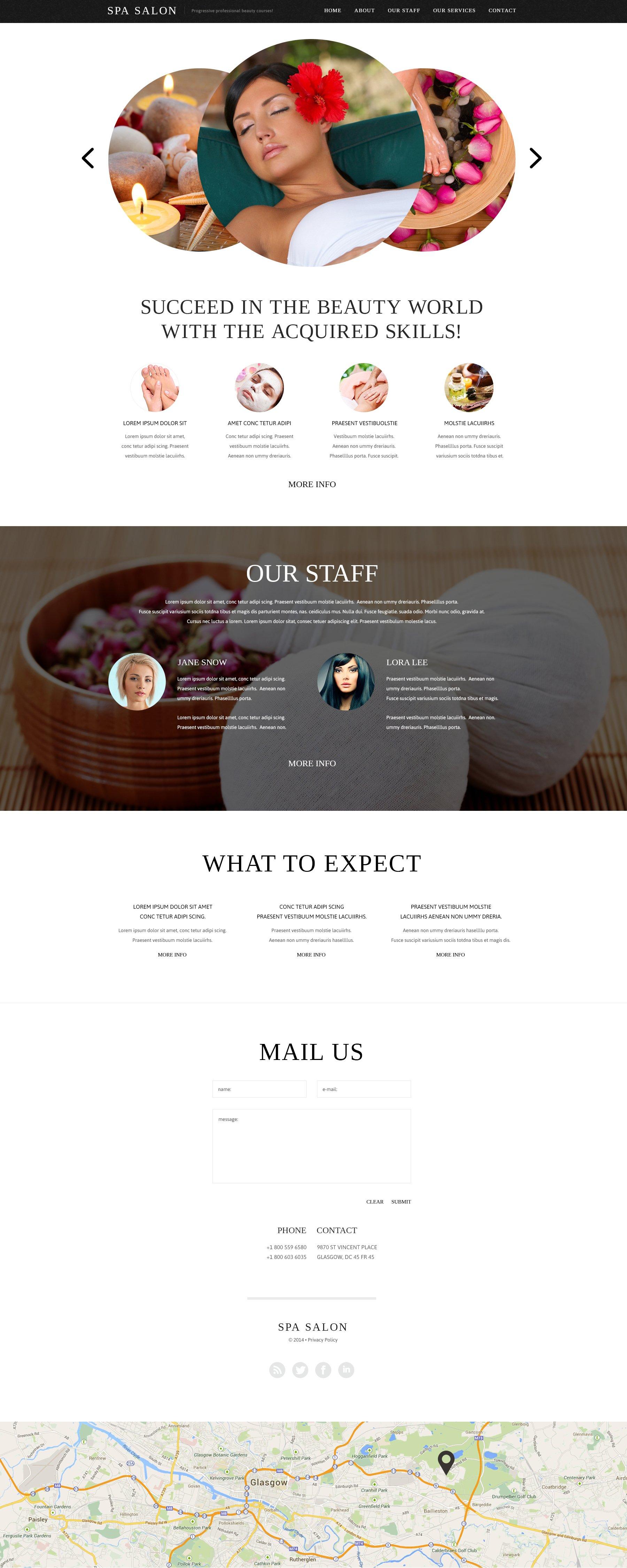 Spa Accessories Website Template