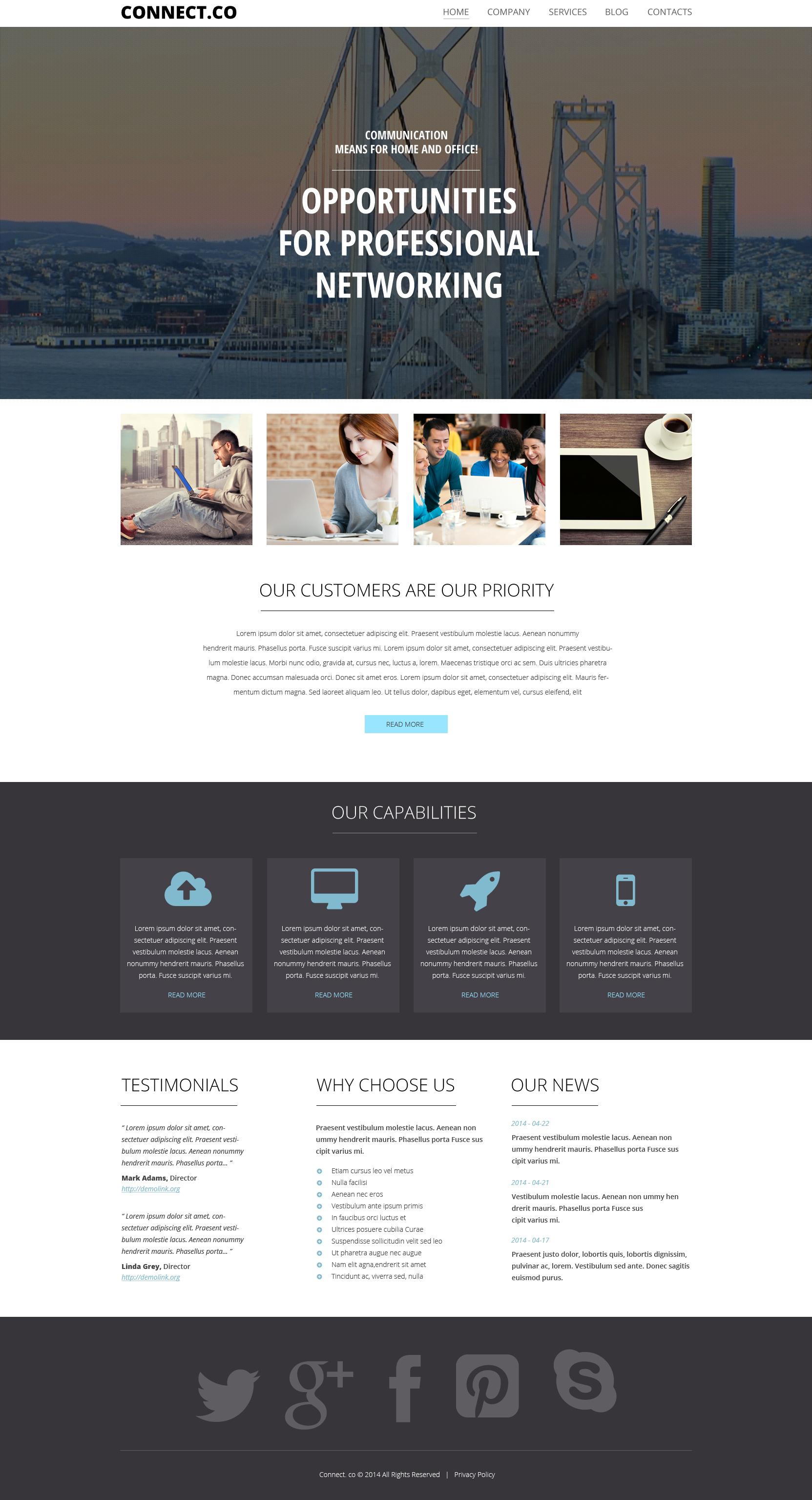"""Tema De WordPress """"Communications"""" #50490 - captura de pantalla"""