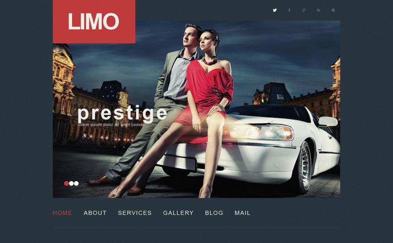 Tema de WordPress #50498 para Sitio de Alquiler de limusinas