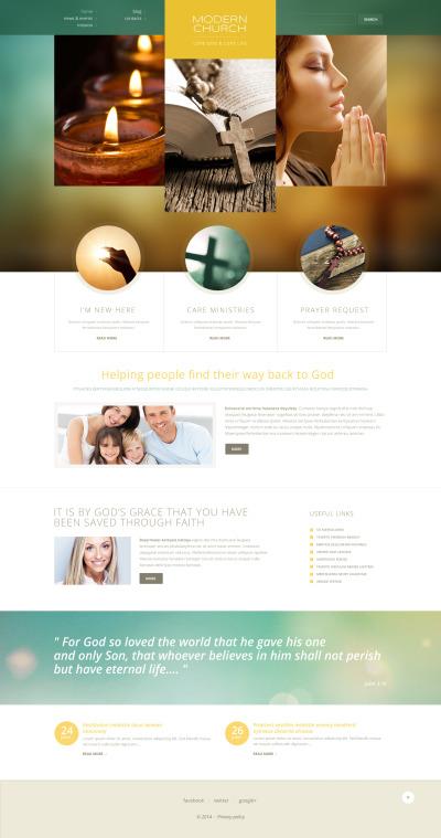 Responsive Tema De WordPress #50457 para Sitio de  para Sitio de Cristianismo